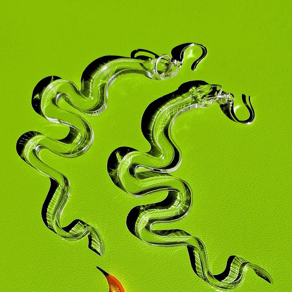 Flying Snake Earrings
